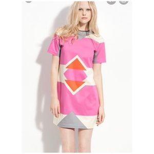 Derek lam geometric shift dress